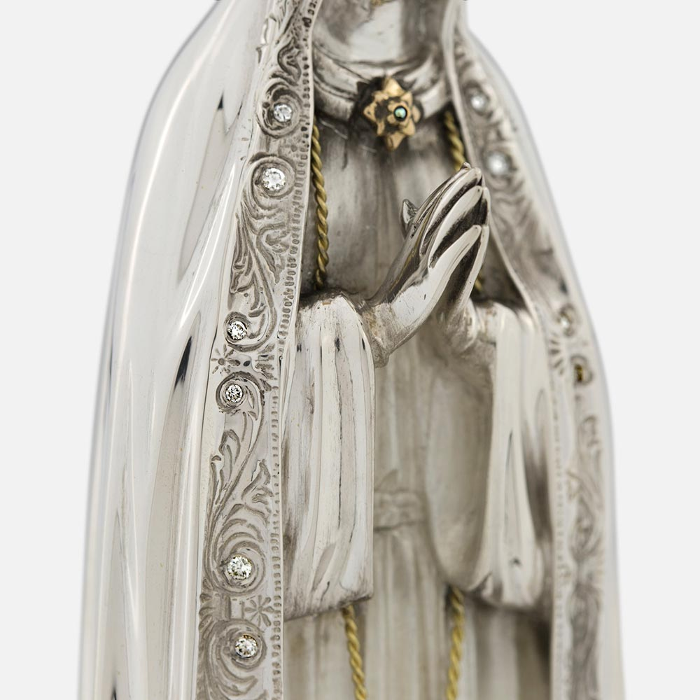 Statuette Our Lady Crown Diamonds
