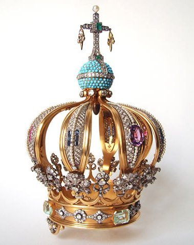 Crown of gold and precious stones. Leitão & Irmão, 1942