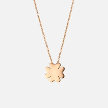 Four-leaf Clover Necklace. Yellow gold