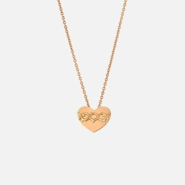 Sacred Heart Necklace. Yellow gold