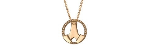 Gratitude Necklace. Yellow gold and diamonds