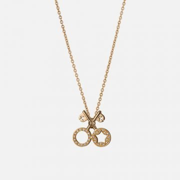 Keys of Heaven and Earth Necklace. Yellow gold and diamonds